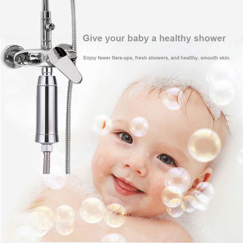 bathroom kdf shower head filter water purifier water softener remove chlorine for family health easy install free shipping 2pcs