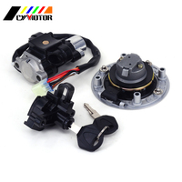 Motocycle Fuel Gas Tank Cap Cover Ignition Lock Key Set For SUZUKI Bandit GSF600 GSF1200 95 96 97 98 99 00 01 02 03 04 05