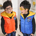 Free shipping Children's clothing winter child cotton vest waterproof glossy thermal cotton vest parachute