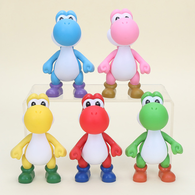9d91d6bcac7d7 5   PVC Super Mario Bros Yoshi Figure Action Yellow PINK Red Green Blue  action figure model toys kids gifts