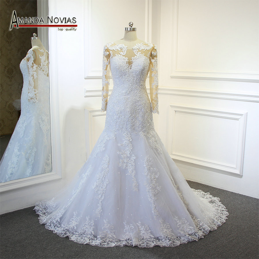 Amanda Novias 2018 New Model Mermaid Wedding Gown Beading: Aliexpress.com : Buy Stunning Full Beading Half Mermaid
