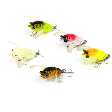 1Pcs Insects Fishing Lure 5cm 6.5g Fishing Bait Bass cicada iscas artificiais para pesca Crankbait Fishing tackle 1pcs insects fishing lure 4cm 4 2g fishing bait bass cicada iscas artificiais para pesca crankbait fishing tackle
