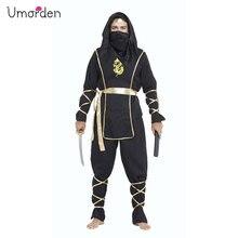 Halloween Costumes Adult Mens Black Hokkaido Warrior Ninja Costume Suit Uniform Fancy Dress Cosplay for Men