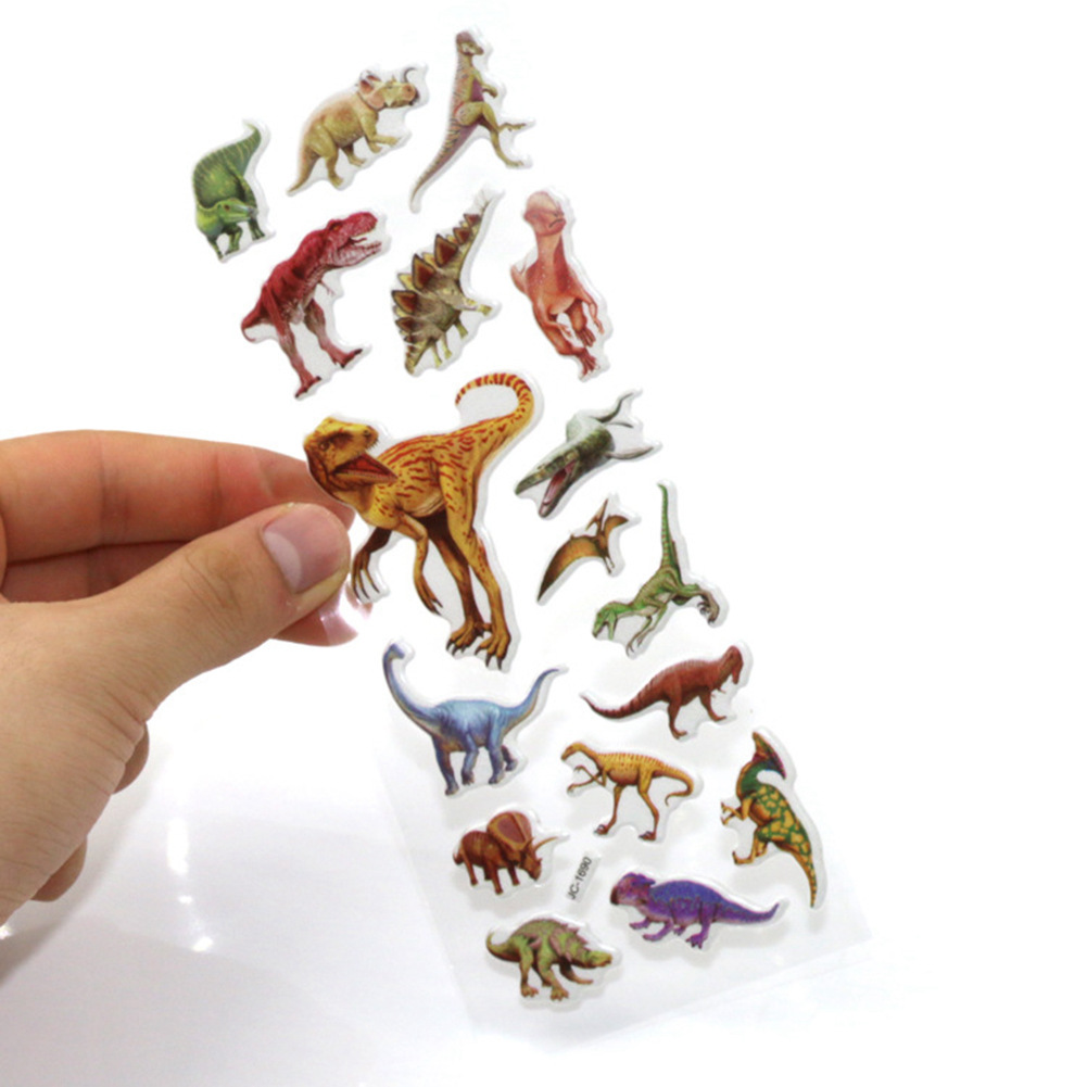 1sheets/set S Size Random 3d Dimensional Jurassic Dinosaur Stickers For Kids Toys Home Wall Decor Cartoon Mini Fridge Laptop With Traditional Methods