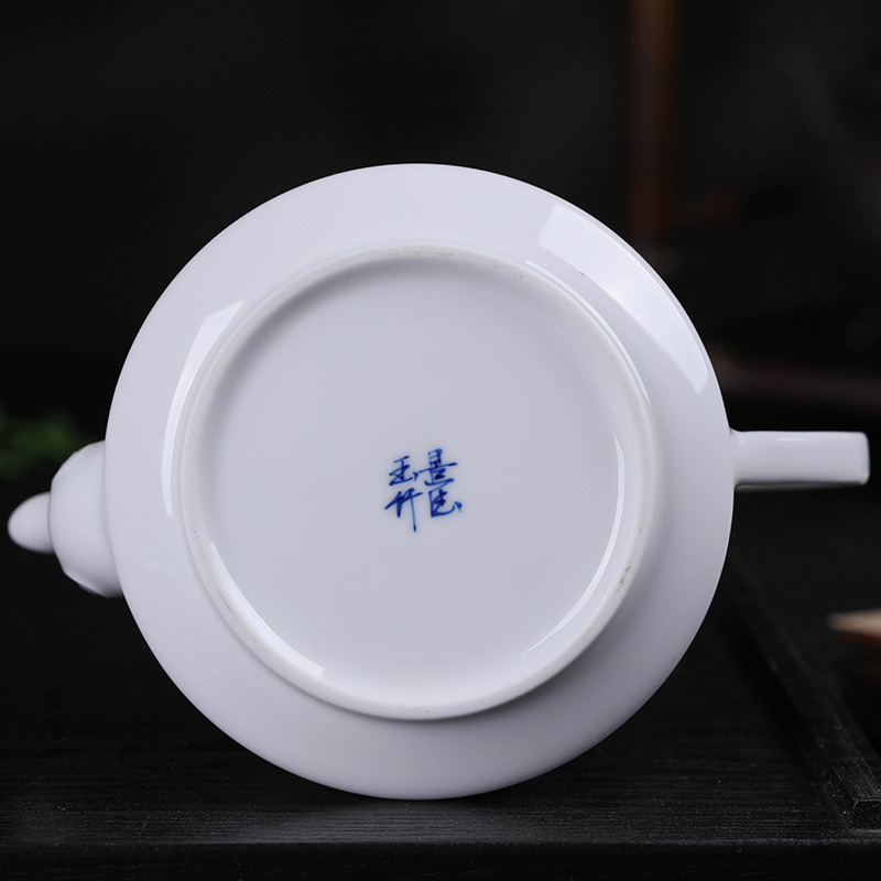 400ml Jingdezhen Large Capacity Ceramic Teapot Handmade Blue and White Porcelain Tea Pot Kung Fu Tea Set Puer Teaware Kettle - 6