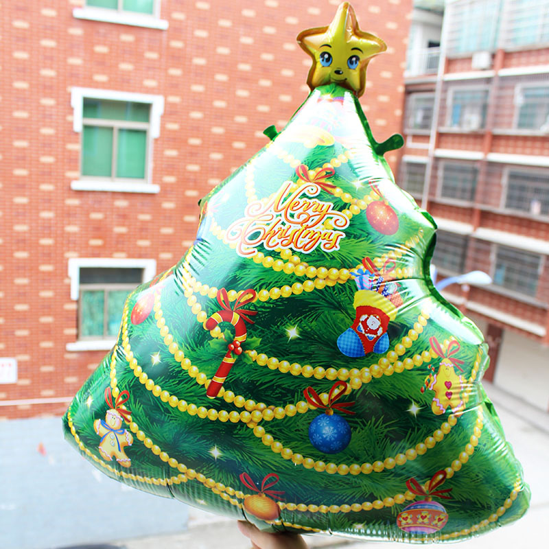 Christmas Tree Balloon.Us 6 75 Aliexpress Com Buy 4pcs Set Santa Claus Foil Balloons Christmas Tree Balloon Classic Toys For Xmas Party Decoration Inflatable Air