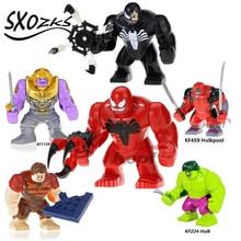 Single sale  Building Blocks toys Hulk pool Venom toxin Children's educational building blocks toy Bricks Ninjagoed JM-38