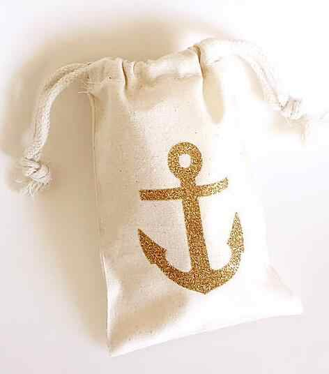 75120f5fbc4 Detail Feedback Questions about glitter Nautical anchor wedding Hangover Kit  jewelry favor muslin Bags Bachelorette hen bridal shower Champagne Party  gift ...