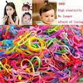 Three thousand children flaxen hair Tousheng rubber band hair disposable rubber band high elastic hair band hair accessories
