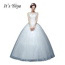 5cb53ad40a961 Ücretsiz kargo 2016 Sequins O-boyun Beyaz Gelinlik Prenses Vestidos De  Novia Düğün balo elbisesi Ucuz Düğün Frocks HS230