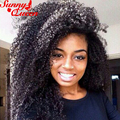 """250% Density Lace Front Human Hair Wigs Malaysian Afro Kinky Curly Full Lace Wigs For Black Women 12-24"""" Front Lace Hair Wigs"""