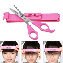 2PCS/Set DIY Tools Makeup Artifact Style Hair Cutting Guide Layers Bang Hair Trimmer Clipper Clip Comb Fringe Cut(China)