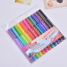 DELVTCH 12pcs/set  1.0mm Pen 12 Colors Ballpoint Student Colour Office Ball For Children Gifts