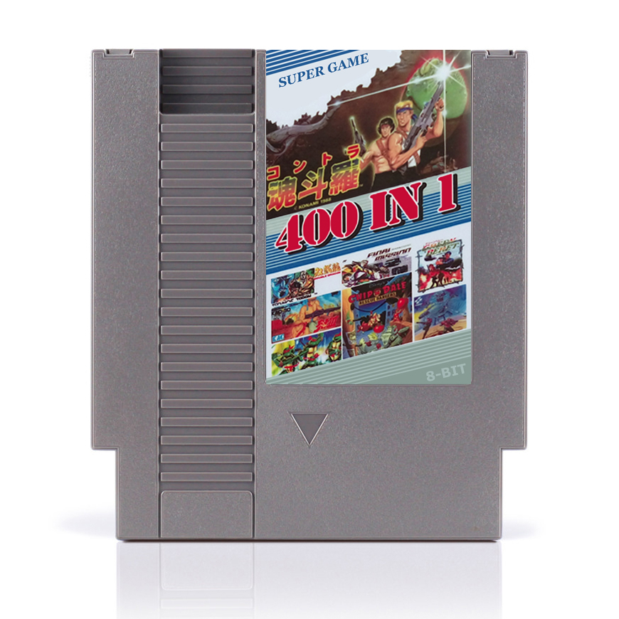 Hot 400 In 1 No Repeat 72pin Game Card With game Contra Spider Man Turtle Fighters Region Free!