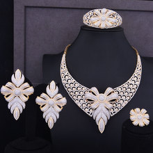 GODKI Super Luxury Snowflake Flower Women Wedding Cubic Zirconia Necklace Earring Bangle Ring Jewelry Set Jewellery Addict