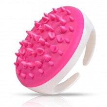11cm Soft Handheld Bath Shower Body Anti Cellulite Massager Brush Glove Relaxing Spa Brush Tool