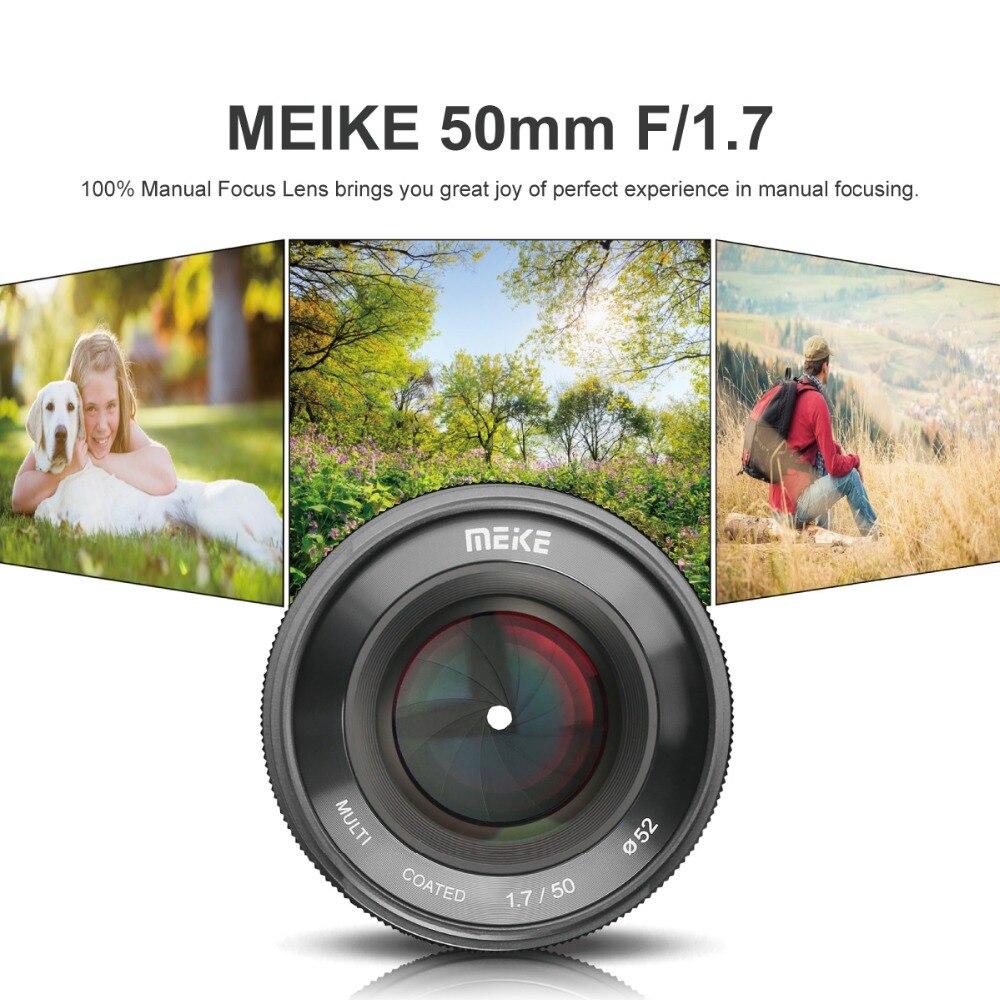Objectif de mise au point manuelle à grande ouverture MK 50mm f/1.7 pour appareils photo sans miroir à monture RF Canon EOS R avec cadre complet - 3