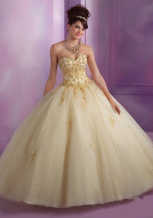 Popular Gold Sweet 16 Dresses-Buy Cheap Gold Sweet 16 Dresses lots ...