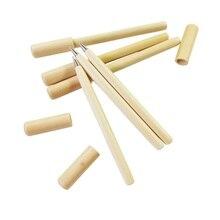 30 adet/grup sevimli Kawaii ahşap tükenmez kalem basit günlük tarzı tükenmez kalem ofis malzemeleri toptan