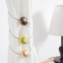 ФОТО fashion 1pcs art hemispherical ball magnetic curtain buckle holder window screening ball clip holder accessories home decor