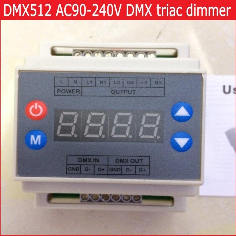 ФОТО DMX302 DMX triac dimmer led brightness controller AC90-240V 50Hz/60Hz high voltage 3 channels 1A/channel Free shipping