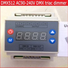 Dmx302 DMX симисторные диммер из светодиодов яркостью контроллер AC90-240V 50 Гц / 60 Гц высокого напряжения 3 каналов 1A / channel бесплатная доставка