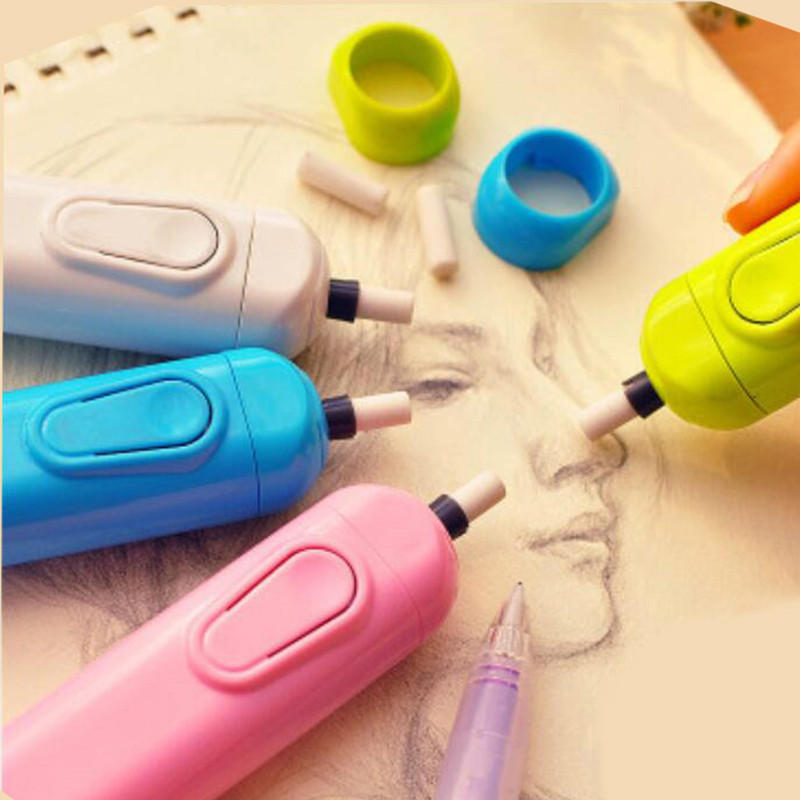 1 Pcs Motor Electric Eraser Automatic School Supplies Stationery Child Day Gift Material Escolar Sketch Painting Correction Tool