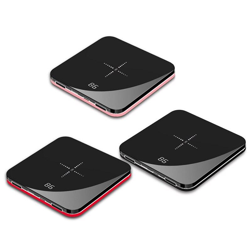 Ультра тонкий Мини Портативный внешний аккумулятор 8000 мАч QI Беспроводное зарядное устройство для xiaomi mi iPhone Быстрая зарядка внешний аккумул...