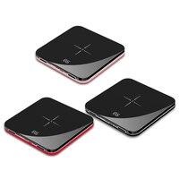 Ultra Thin Mini Portable Power Bank 8000mAh QI Wireless Charger for xiaomi mi iPhone Fast Charging External Battery Powerbank