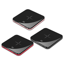 Ultra Thin Mini Portable Power Bank 8000mAh QI Wireless Char