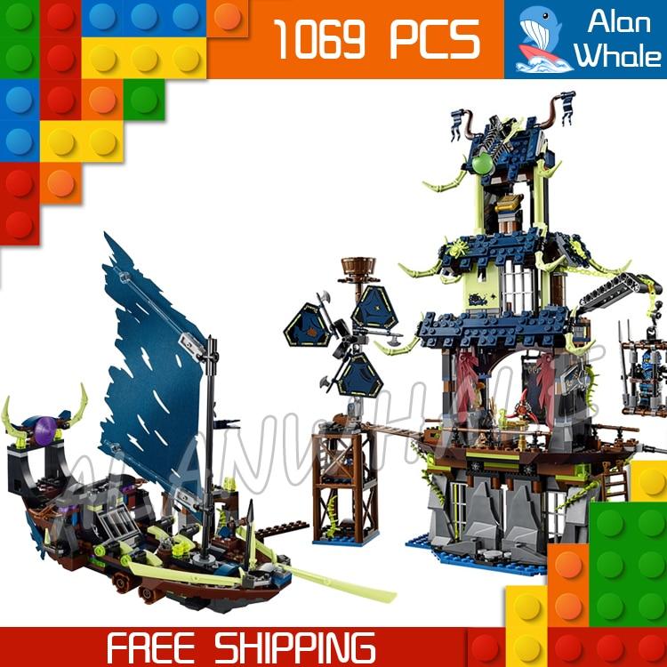 1069pcs 2016 New Bela 10401 Ninja City of Stiix Building Blocks Toys Set Christmas Gift Compatible with Lego lepin 02012 city deepwater exploration vessel 60095 building blocks policeman toys children compatible with lego gift kid sets
