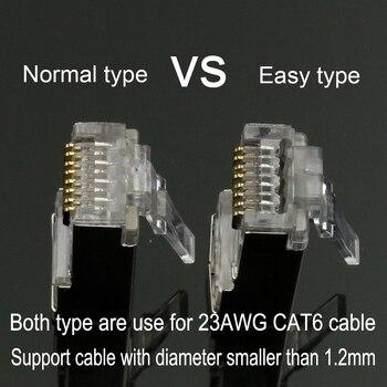 Xintylink Rj45 разъем Cat6 сети Ez Cat 6 разъем 8p8c Stp Rj 45 мужской экранированный позолоченный Ethernet кабель Conector Jack 50/100