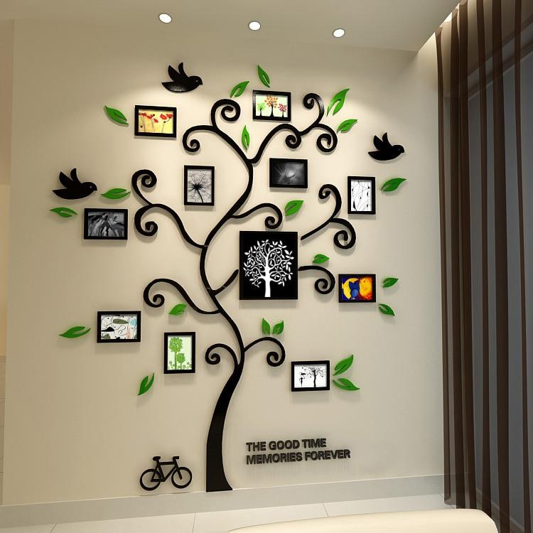Three-dimensional, Entranceway, Wall, Tree, Happy, Acrylic