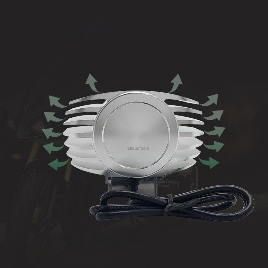 Tonewan LED Car External Headlight 8W 10W 15W 6000K White Motorcycle Fog DRL Headlamp Spotlight Hunting Driving Spot Light exled 12w 72lm 4 led white light headlamp spotlight for motorcycle electric car black