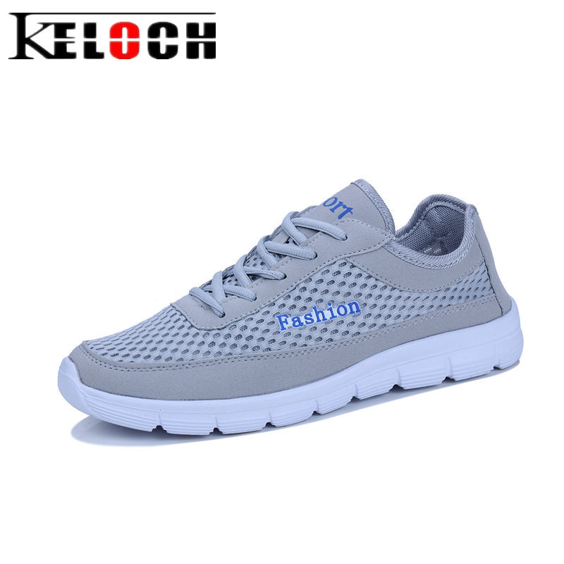 Keloch 2018 Unisex Summer Mesh Shoes Women Couple Fashion Soft Ladies Casual Shoes Mesh Breathable Female Flats