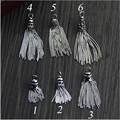 Fashion Sterling Silver Tassel Vintage Silver necklace Earring Bag Tassel pendant Diy silver jewelry Accessory findings