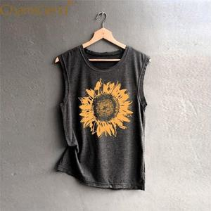 CHAMSGEND Tank Top Shirts for Woman Female Summer