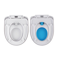 Potties Seat Cover Set Soft Toilet Seat Closing Baby Adult Double Use White Toilet Lid Cover Plastic Easy Clean Hot Selling