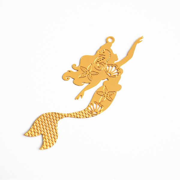 10 pcs Diy ทองแดงคอมพิวเตอร์ชิ้น mermaid princess flying fairy angel charms เครื่องประดับทำอุปกรณ์ญี่ปุ่นเอลฟ์ซีล