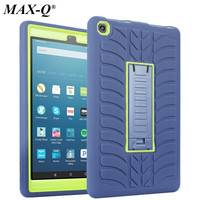 MAX Q Kindle Fire HD 8 2017 Case Hybrid Rugged Heavy Duty Shockproof Anti Slip Stand