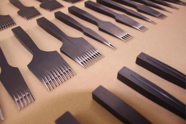 Manual customization  Steel Diamond Chisel Polished Prongs Leather Hole Punch Stitching Tools (2.7mm/3.00mm/3.38mm/3.85mm)