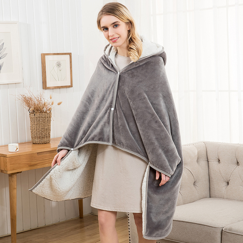 Flannel Blanket Hoodie Travel Totoro Blanket Kids Hooded Blankets Sweatshirt Unicorn Warm Fleece Coats TV Blankets for Beeding 14