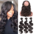 360 Lace Frontal With Bundle Peruvian Body Wave Peruvian Virgin Hair Body Wave With Closure 360 Lace Frontal Closure With Bundle