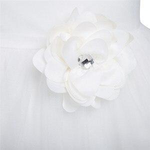 Image 5 - TiaoBug Blume Mädchen Kleider Heilige Kommunion Kleid Weiß Blau Tüll Vestidos Pageant Kleider Für Kleine Mädchen Ballkleid 2 14Y