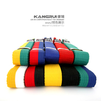 10 Color Free Shipping Standard Taekwondo Belt Road With Divisa Level Belt Taekwondo Belt Tkd Belt