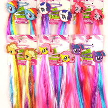 Модная красивая маленькая лошадка мультфильм заколки Единорог шпилька Дети Обувь для девочек аксессуары для волос с длинными красочные парик украшение