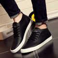 2016 men casual shoes handmade breathable comfortable PU leather brand men shoes