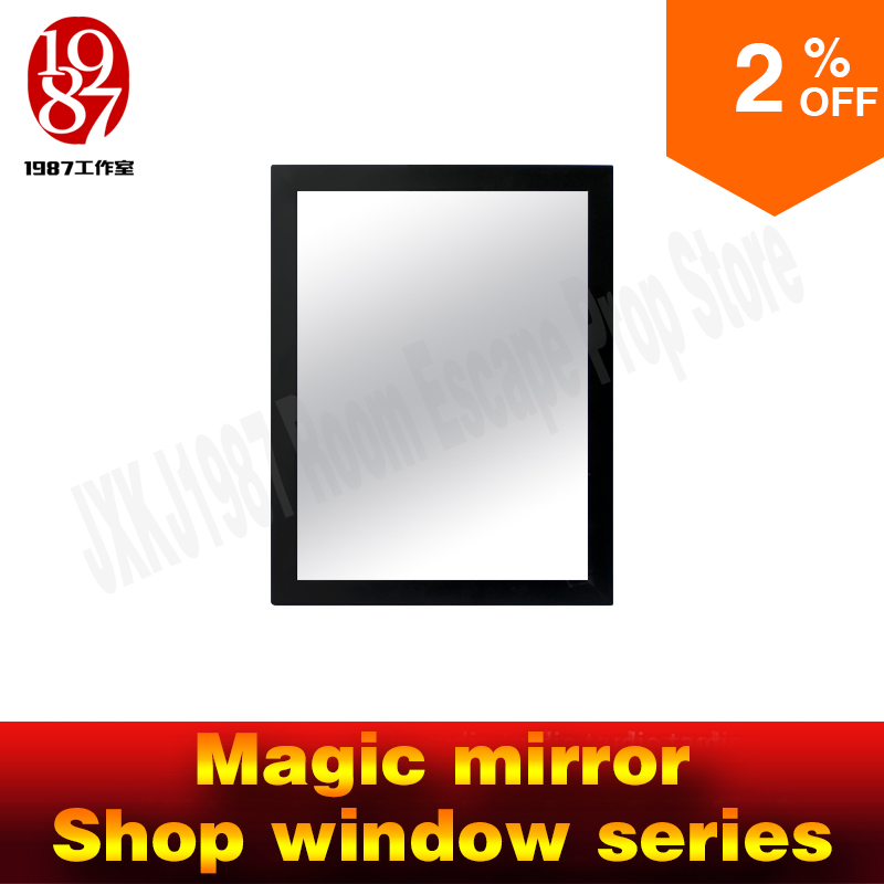Real life room escape props magic mirror IC card version for real life chamber room from