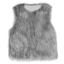 ARLONEET Kid girl Stylish Fur vest Baby Girl Winter Warm 옷 Faux Fur 모피 양복 두꺼운 Coat Outwear 1- 6 톤 L1019(China)
