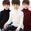 Boys Knitted Sweaters Children Clothing Kids Turtleneck Kids Sweaters Baby Boys Clothes 2017 New Outerwear Teenage Tops 4 6 8 10